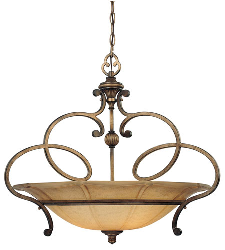 Minka-Lavery 4143-573 La Cecilia 3 Light 30 inch Patina Iron Pendant Ceiling Light photo