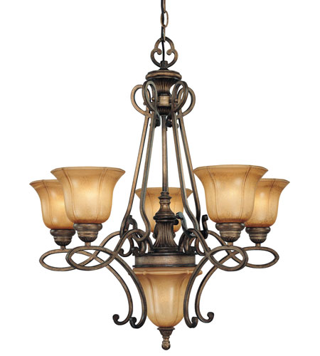 Minka-Lavery 4145-573 La Cecilia 5 Light 28 inch Patina Iron Chandelier Ceiling Light photo
