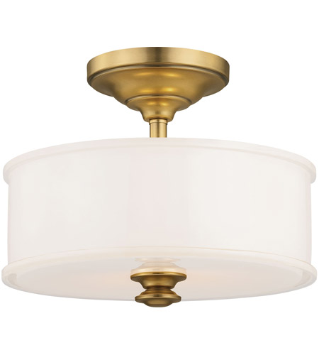 Minka-Lavery 4172-249 Harbour Point 2 Light 14 inch Liberty Gold Semi Flush Mount Ceiling Light photo