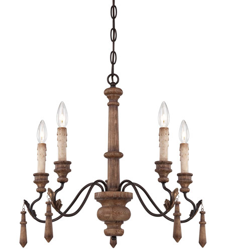 Minka-Lavery Preston Ridge 5 Light Chandelier in Royal Oak Patina 4185-282 photo