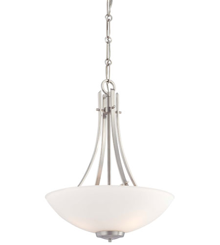 Minka-Lavery Laguna Vista 1 Light Pendant in Brushed Nickel 4193-84 photo