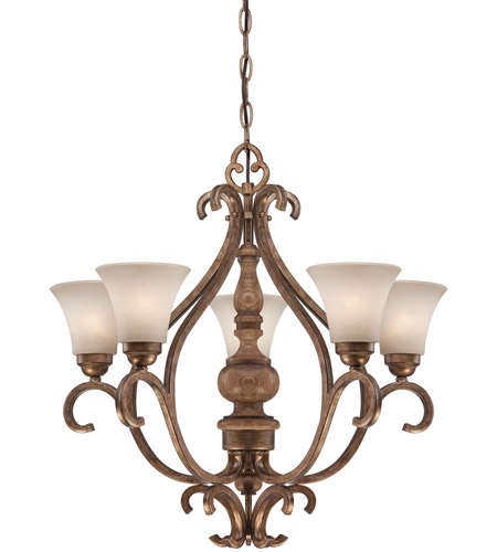 Minka-Lavery Abbott Place 5 Light Chandelier in Classic Oak Patina 4204-290 photo