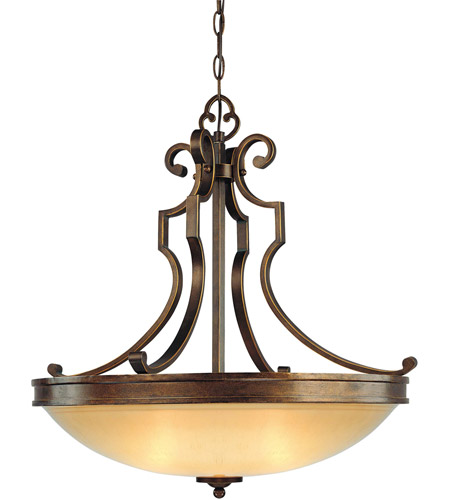 Minka-Lavery 4233-288 Atterbury 3 Light 25 inch Deep Flax Bronze Pendant Ceiling Light photo