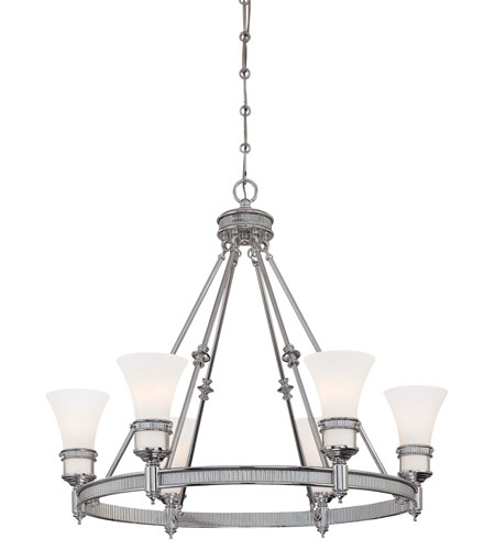 Minka-Lavery Federal Restoration 6 Light Chandelier in Chrome 4276-77 photo