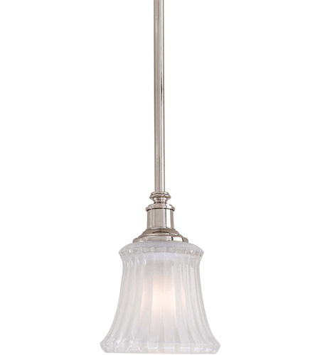 Minka-Lavery Hayvenhurst 1 Light Mini Pendant in Polished Nickel 4302-613 photo