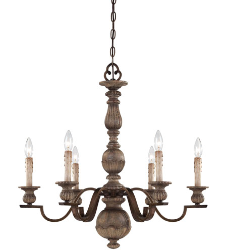Minka-Lavery Regents Row 6 Light Chandelier in Regents Patina 4316-299 photo