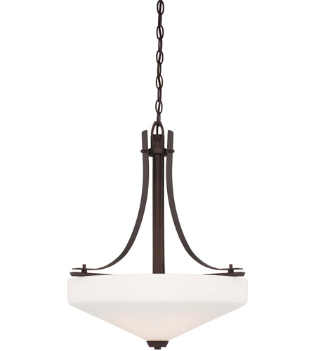 Minka-Lavery 4322-577 Zacara 3 Light 20 inch Artistic Bronze Pendant Ceiling Light photo