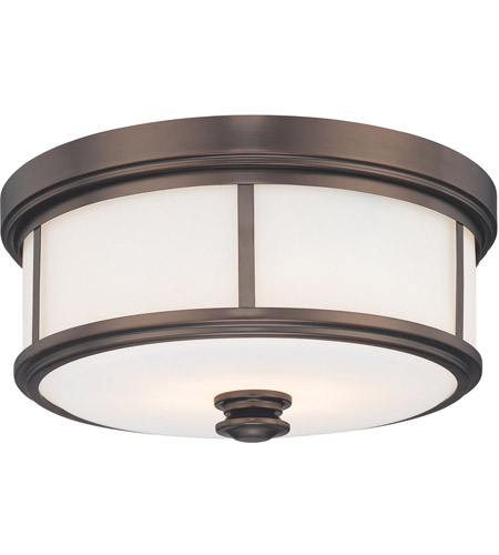 Minka-Lavery 4365-281 Harvard Court 2 Light 14 inch Harvard Court Bronze Plated Flush Mount Ceiling Light photo