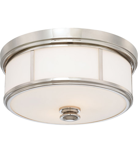 Minka-Lavery Signature 2 Light Flushmount in Polished Nickel 4365-613 photo