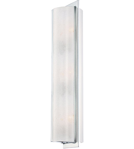 Minka-Lavery 4393-77 Clarte 3 Light 5 inch Chrome ADA Wall Sconce Wall Light