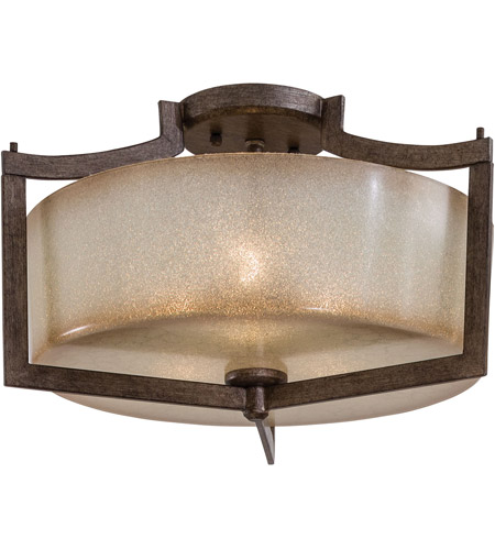 Minka-Lavery 4397-573 Clarte 3 Light 17 inch Patina Iron Semi Flush Mount Ceiling Light photo