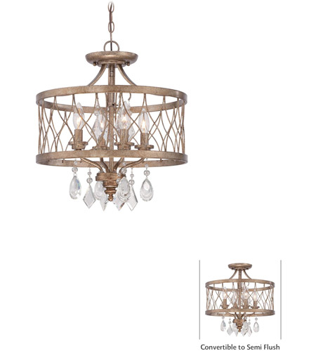 Minka-Lavery 4403-581 West Liberty 4 Light 16 inch Olympus Gold Mini Chandelier Ceiling Light, Convertible To Semi-Flush photo