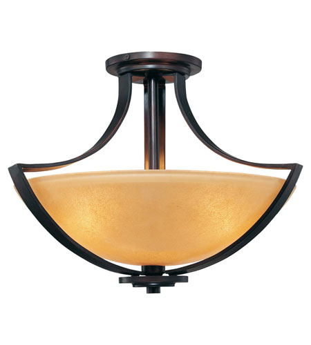 Minka-Lavery Kinston 3 Light Semi-flush in Aged Kinston Bronze 4472-298 photo