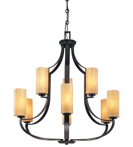 Minka-Lavery Kinston 9 Light Chandelier in Aged Kinston Bronze 4479-298 photo