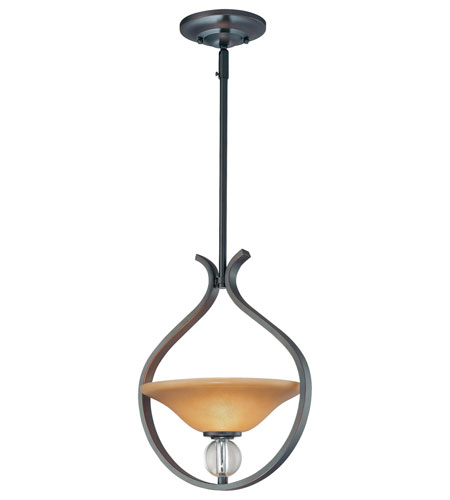 Minka-Lavery Grahmton 1 Light Pendant in Deep Lathan Bronze 4481-167B photo