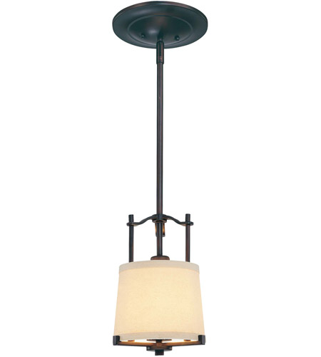 Minka-Lavery 4491-298 Ansmith 1 Light 8 inch Aged Kinston Bronze Mini Pendant Ceiling Light photo
