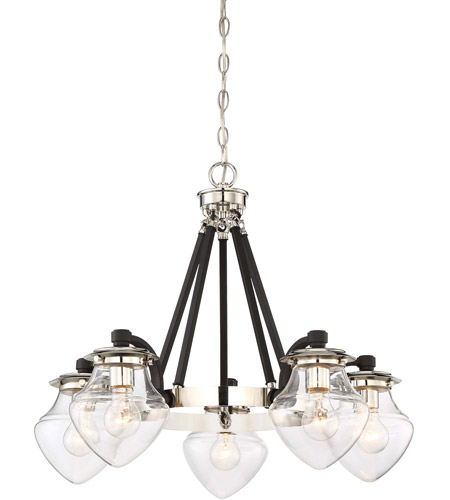 Minka lavery 4575 583 the cape 5 light 28 inch polished nickel with minka lavery 4575 583 the cape 5 light 28 inch polished nickel with black mozeypictures Images