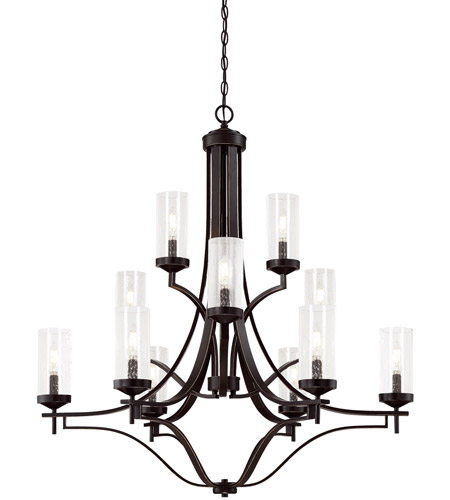 Minka Lavery 4646 579 Elyton 12 Light 36 Inch Downton Bronze With Gold Chandelier Ceiling