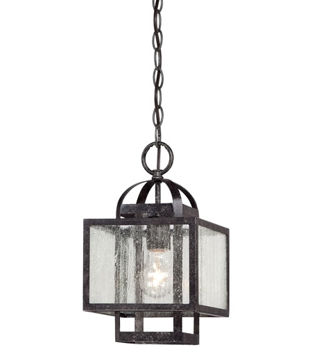Minka-Lavery 4879-283 Camden Square 1 Light 8 inch Aged Charcoal Mini Pendant Ceiling Light photo thumbnail