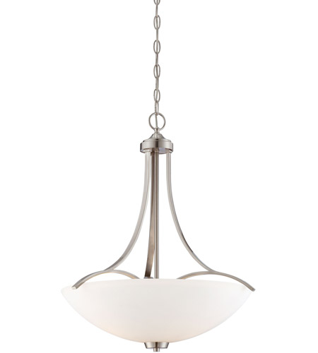 Minka-Lavery 4964-84 Overland Park 3 Light 22 inch Brushed Nickel Pendant Ceiling Light photo thumbnail