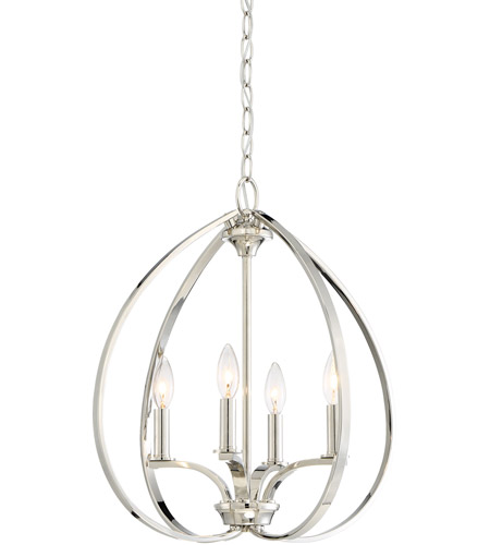Minka-Lavery 4984-613 Tilbury 4 Light 19 inch Polished Nickel Pendant Ceiling Light photo thumbnail