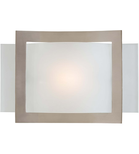 Minka-Lavery Signature 1 Light Sconce in Brushed Nickel 505-84 photo