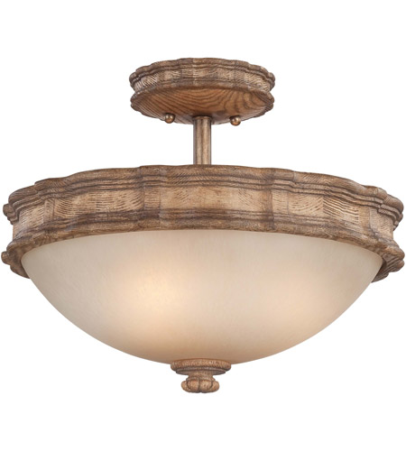 Minka-Lavery Abbott Place 3 Light Semi-flush in Classic Oak Patina 5208-290 photo