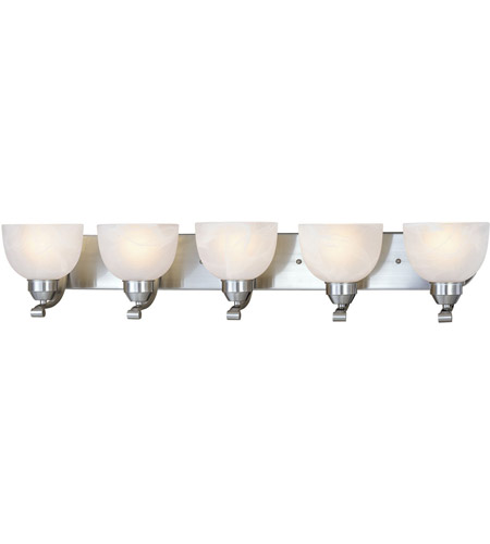 Minka-Lavery Paradox 5 Light Bath in Brushed Nickel 5425-84 photo