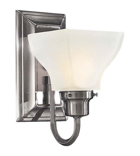 Minka-Lavery 5581-84 Mission Ridge 1 Light 5 inch Nickel & Silver Bath Wall Light  photo