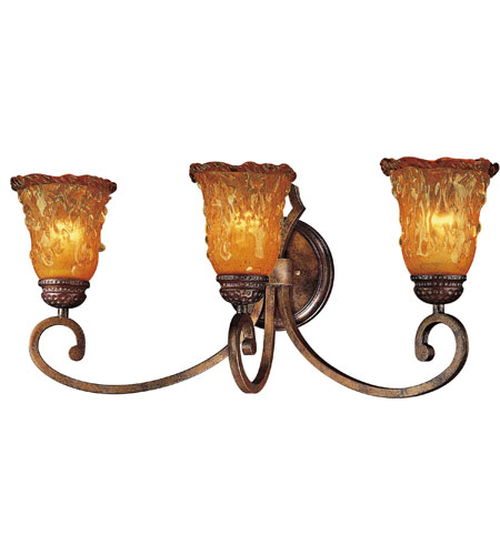 MinkaLavery Spanish Vista Light Bath Fixture In Cognac Patina - Minka lavery bathroom fixtures