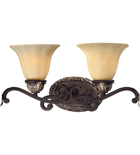 Minka-Lavery 5772-301 Bellasera 2 Light 21 inch Castlewood Walnut w/Silver Highlights Bath Wall Light photo