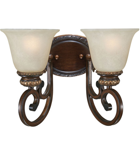 Minka-Lavery 5942-126 Belcaro 2 Light 14 inch Belcaro Walnut Bath Bar Wall Light photo