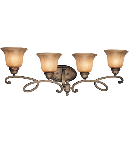 Minka-Lavery 6144-573 La Cecilia 4 Light 34 inch Patina Iron Bath Wall Light photo