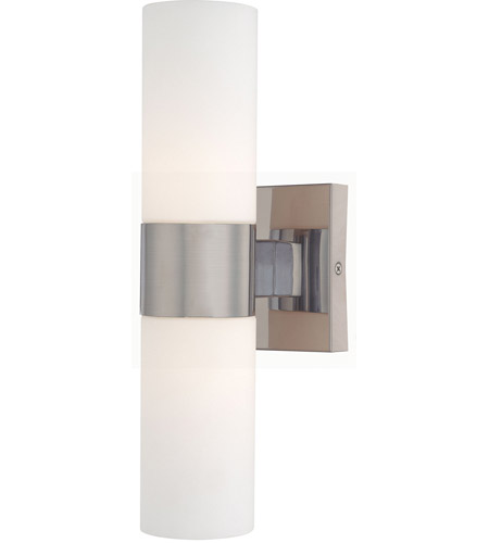 Minka Lavery 6212 84 Signature 2 Light 5 Inch Brushed Nickel Wall Sconce  Wall