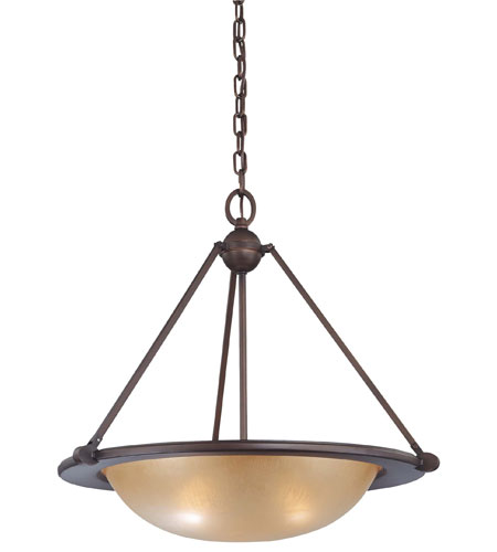 Minka-Lavery Cimarron 3 Light Pendant in Dark Brushed Bronze 6248-267B photo