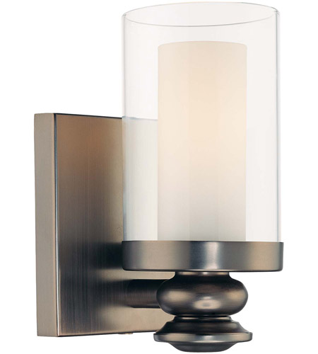 Minka-Lavery 6360-281 Harvard Court 1 Light 5 inch Harvard Court Bronze Plated Bath Sconce Wall Light  photo