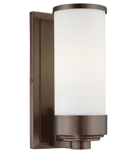 Minka-Lavery Signature 1 Light Sconce in Dark Brushed Bronze 6441-267-PL photo