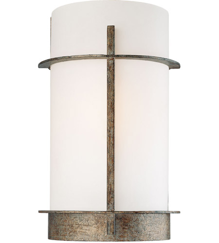 Minka-Lavery 6460-273 Compositions 1 Light 8 inch Aged Patina Iron ADA Wall Sconce Wall Light photo