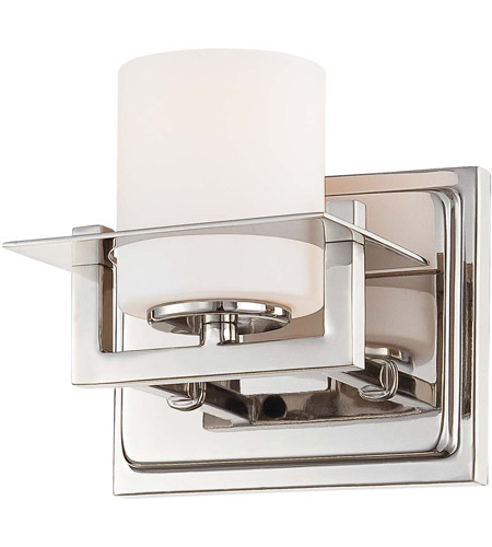 Minka-Lavery Compositions 1 Light Bath in Polished Nickel 6461-1-613 photo