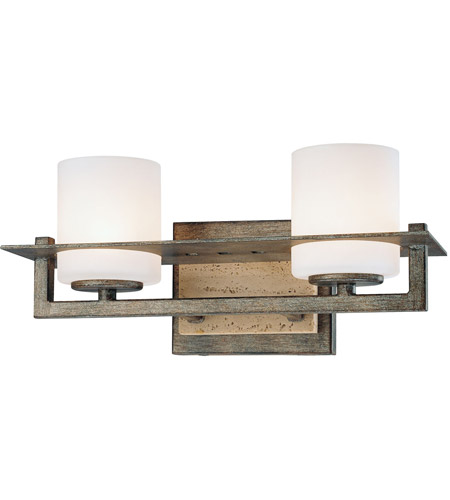 Minka-Lavery 6462-273 Compositions 2 Light 13 inch Aged Patina Iron Bath Bar Wall Light photo