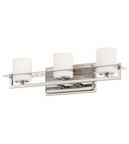Minka-Lavery 6463-1-613 Compositions 3 Light 20 inch Polished Nickel Bath Wall Light photo