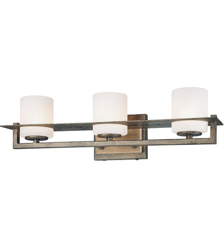 Minka-Lavery 6463-273 Compositions 3 Light 20 inch Aged Patina Iron Bath Bar Wall Light  photo