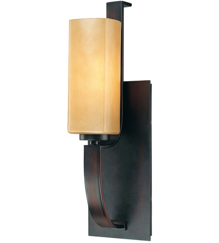 Minka-Lavery 6471-298 Kinston 1 Light 5 inch Aged Kinston Bronze Bath Wall Light photo