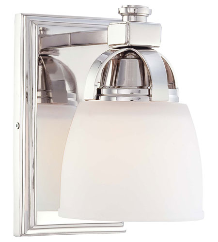 Minka-Lavery 6501-613 Brookview 1 Light 5 inch Polished Nickel Bath Wall Light photo