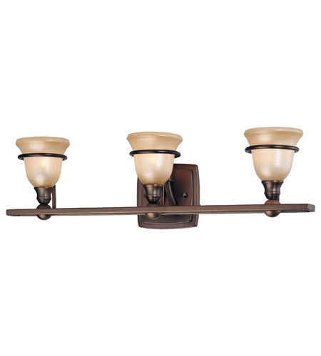 Minka-Lavery Lacota 3 Light Bath in Dark Brushed Bronze 6513-267 photo