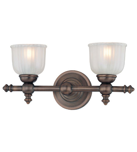 Minka-Lavery 6532-267 Fordyce 2 Light 15 inch Dark Brushed Bronze Bath Wall Light photo