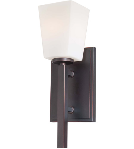 Minka-Lavery City Square 1 Light Sconce in Lathan Bronze 6540-167 photo