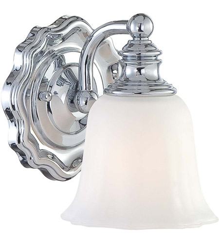 Minka-Lavery 6591-77 Felice 1 Light 6 inch Chrome Bath Wall Light photo