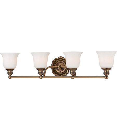 Minka-Lavery 6594-289 Felice 4 Light 30 inch Vintage Cheshire Gold Bath Wall Light photo