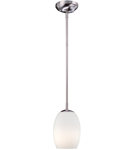 Minka-Lavery 66-84-PL Signature 1 Light 6 inch Brushed Nickel Mini Pendant Ceiling Light photo